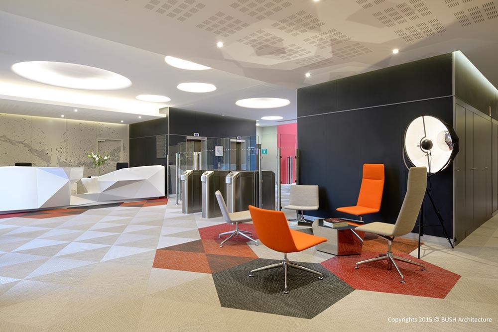 Concept architectural intérieur options sas